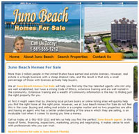 Juno Beach website design